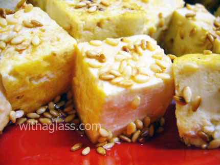 Grilled Tofu with Sesame Seeds