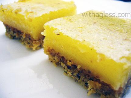 Lemon and Hazelnut Bars