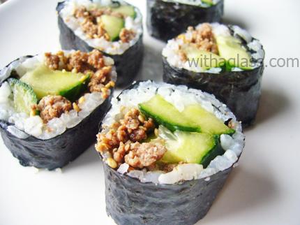 Ground Beef Maki Sushi