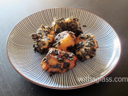 Scallops Fried in Nori, or Hotate no nori age