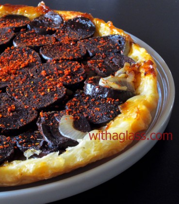 Upside-Down Tart with Black Pudding