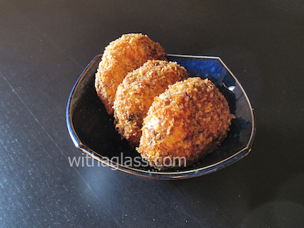 Meat Korokke (コロッケ) with Cumin, or Potato, Meat and Mushroom Croquettes