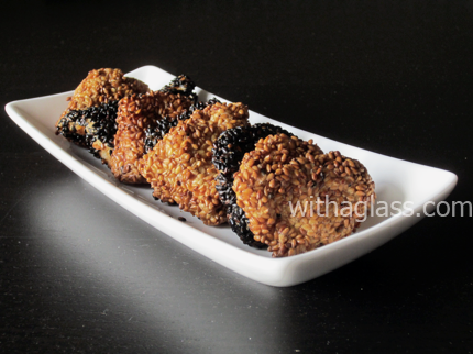 Sesame Coated Chicken Nuggets, or Tori no goma age