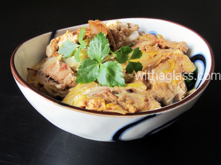Tanindon (他人丼) or Tanin Donburi with Ginger