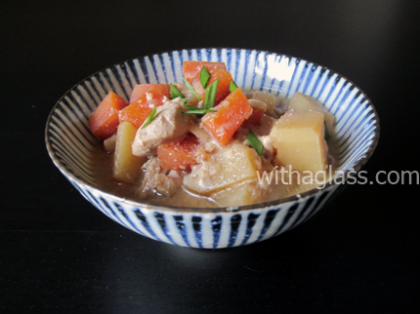 Chicken and Potatoes in Miso Stew