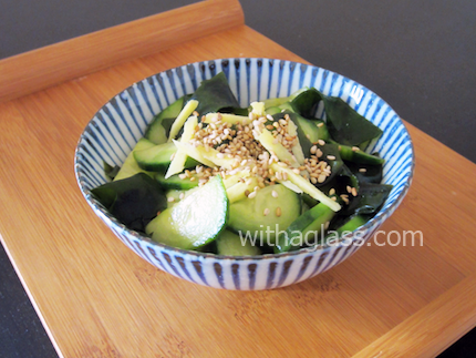 Cucumber and Wakame Sunomono (Cucumber and Seaweed Salad)