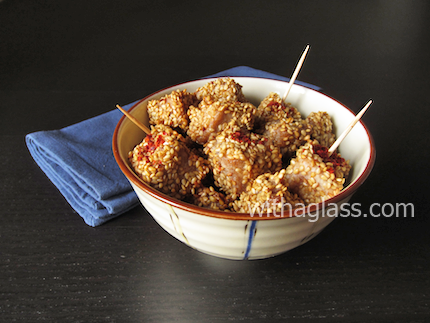 Sesame Coated Tuna Nuggets (Maguro no goma age)