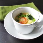 Chawan Mushi with Shrimp and Green Peas