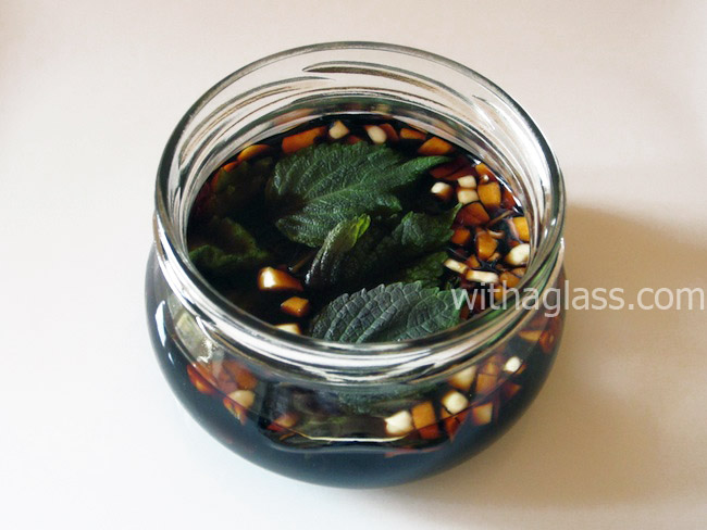 Shiso and Garlic Infused Soy Sauce