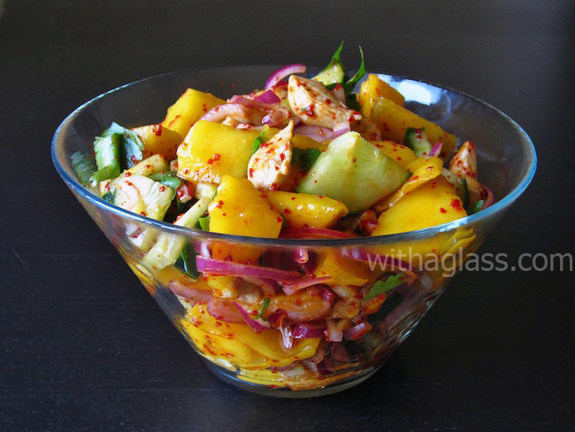 Mango, Chicken and Cucumber Salad