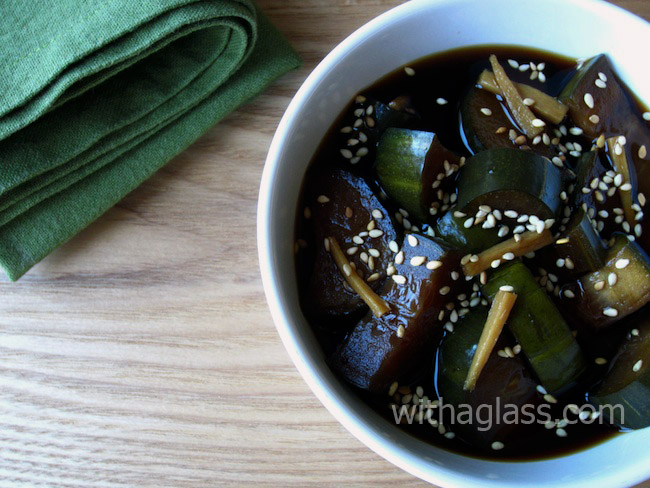 Kyuuri no Kyuuchan (Japanese Pickled Cucumber with Soy Sauce and Ginger)