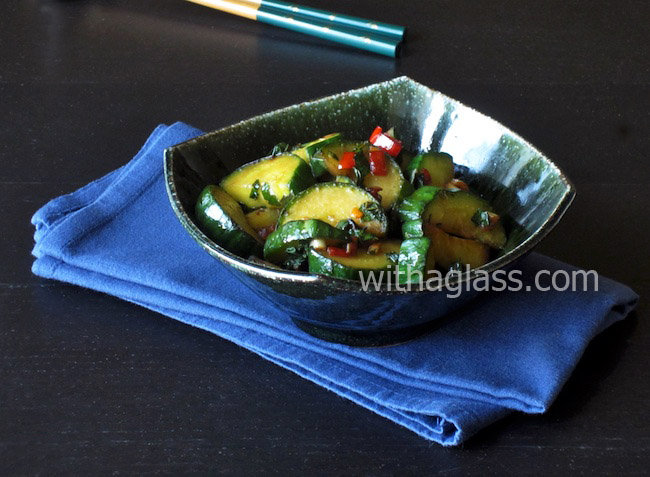 Cucumber Fried with Perilla (Shiso)