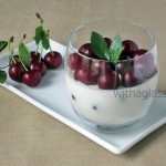 Greek Yogurt Mousse with Sour Cherries