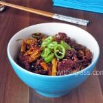 Korean - Style Pork Tenderloin with French Beans