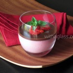 Yogurt Strawberry Mousse with Chocolate Ganache