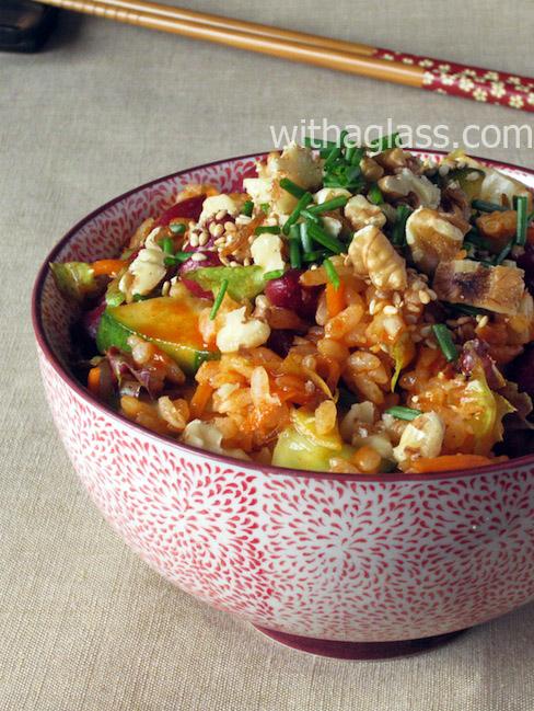 Cold Vegetarian Bibimbap (Korean Rice Salad)