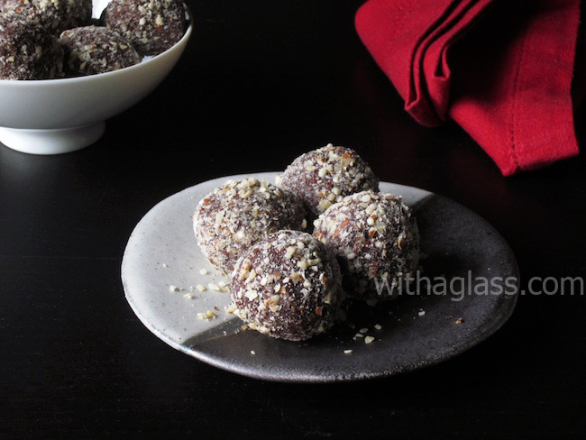 Chocolate Truffles with Hazelnuts and Coffee