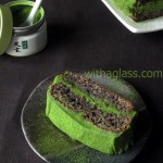Moist Poppy Cake with Matcha Ganache