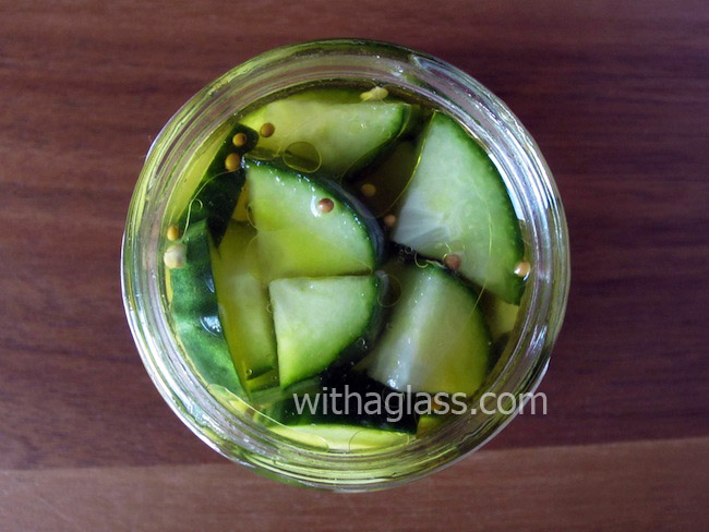 Cucumber Pickled in Reused Brine, or Quick Secondary Pickles