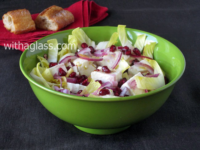 Feta, Chicory and Pomegranate Salad