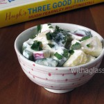 Feta, Apple and Cucumber Salad with Yogurt
