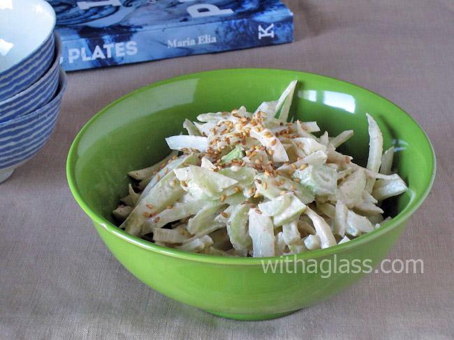 Fennel Salad with Yogurt and Sesame Paste (Tahini) Sauce