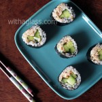 Maki sushi with Canned Tuna and Cucumber