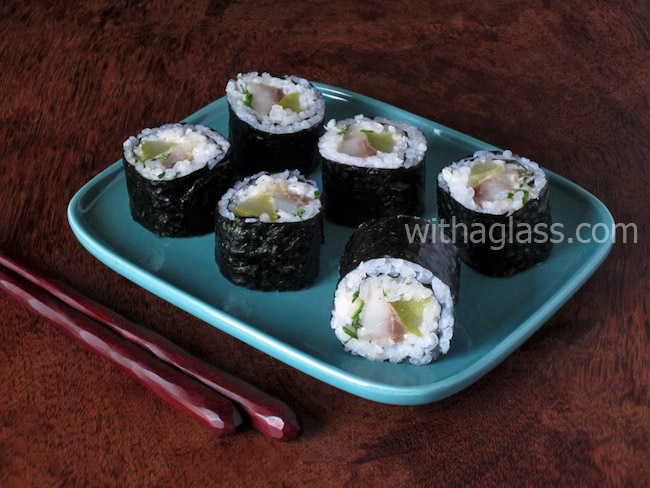 "Maki Sushi with Pickled ""Matjes"" Herring"