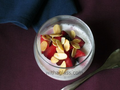 Light Almond Cream with Plums