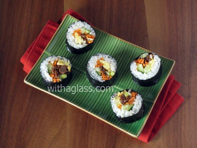 Korean Rice Rolls (Gimbap/Kimbap 김밥)