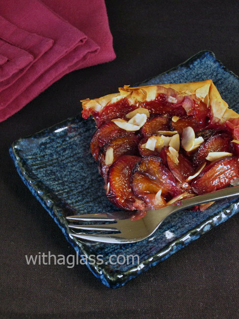 Feather-Light Filo Tart with Plums