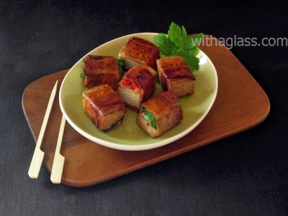 Tofu and Bacon Snacks