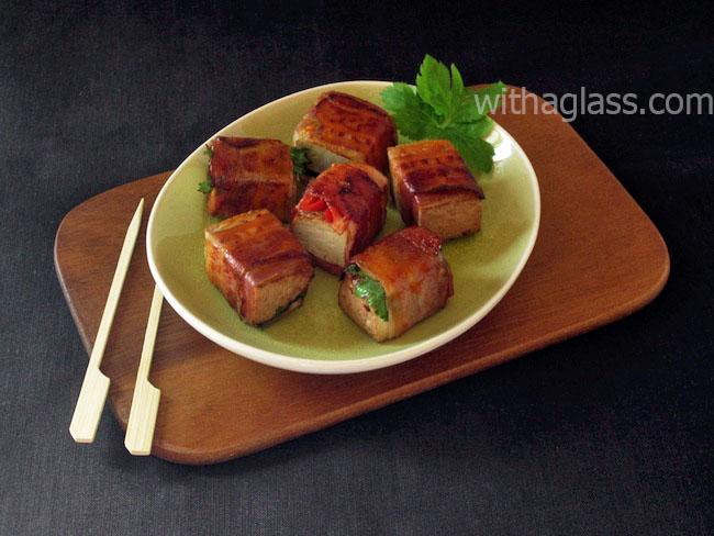 Tofu and Bacon Snacks