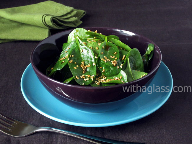 Baby Spinach Salad with Sesame Seeds