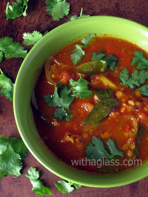 Sour Indian Tomato and Black Pepper Soup