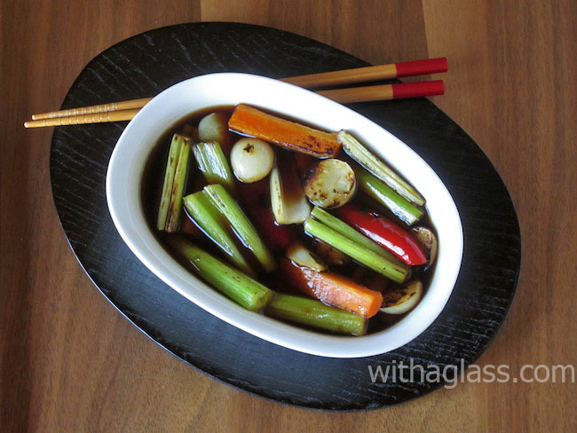 Grilled, Soy Sauce-Marinated Vegetables (野菜の焼き漬け)