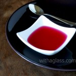 Vinegar infused with red shiso