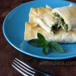 Filo Rolls with Bok Choy Leaves and Feta