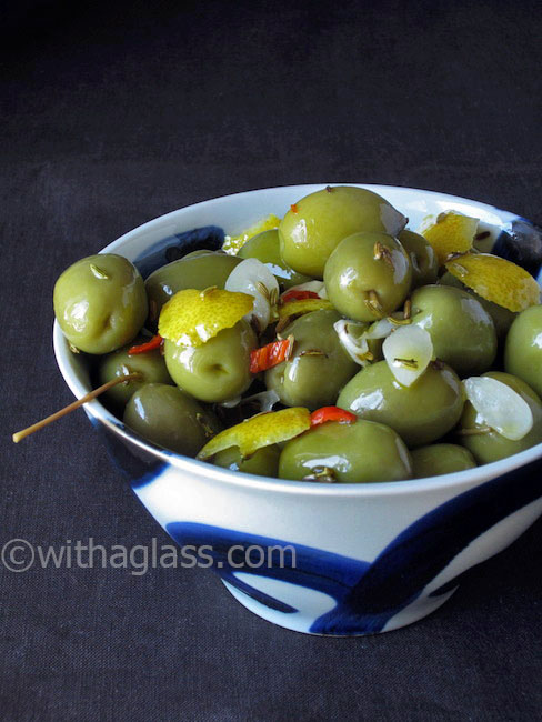 Olives with Lemon Zest and Fennel Seeds