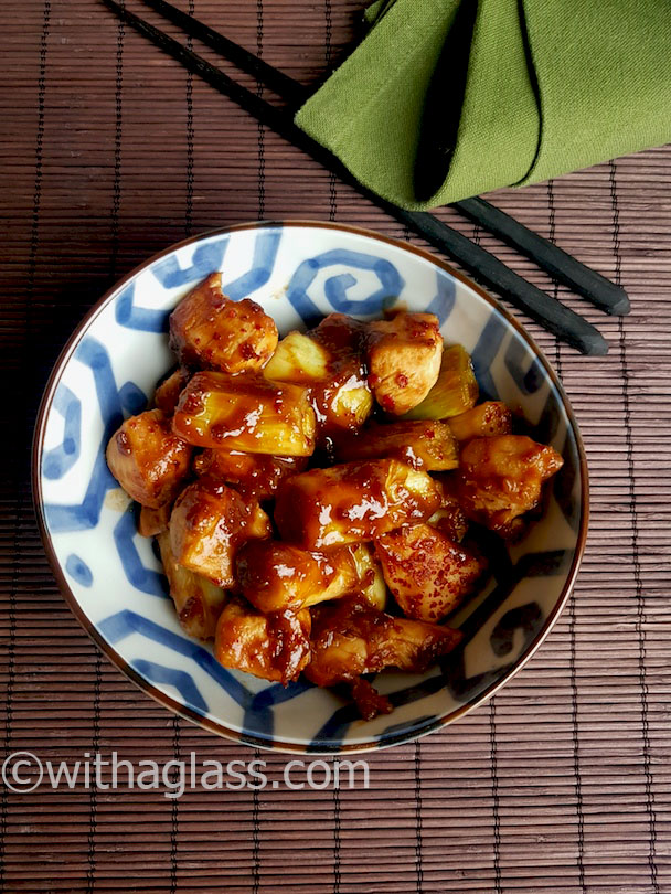 Chicken and Leek in Miso and Honey Sauce